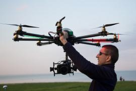 Aerial photography with quadcopter