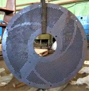 Drilling machine tube sheet flange, sieve, channel